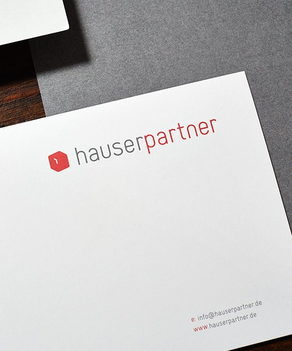 hauserpartner Briefpapier